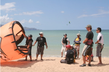 Your kite instructor taking certification course in Maui