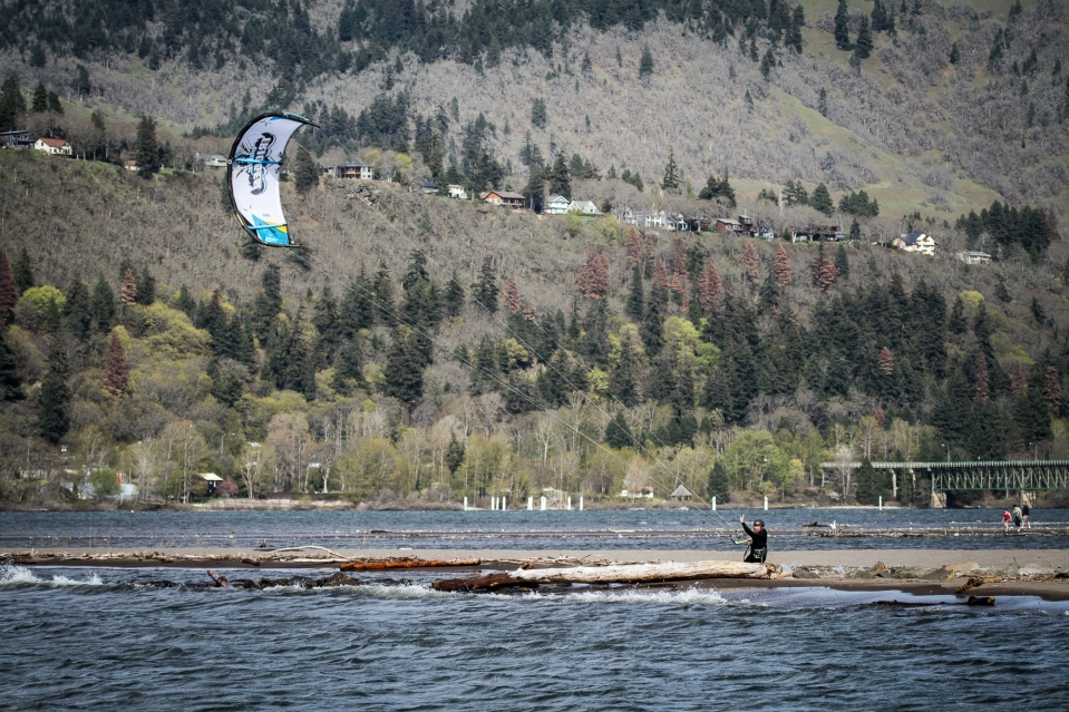 the instructor enjoying an early spring session in hood river, oregon